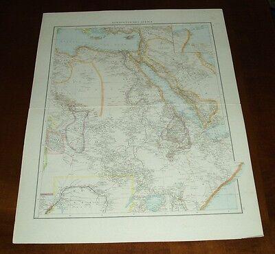 Algerien und Tunis, Nordöstliches Afrika, Ägypten: Alte Landkarte (1886)