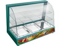 Green Food Warmer Display Cabinet Counter Electric Pie Pasty Sausage