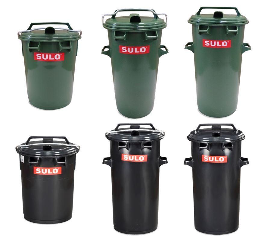 35, 50 Liter Sulo Restmülltonne Biotonne Müllbehälter Abfalltonne ALU-Bügel NEU