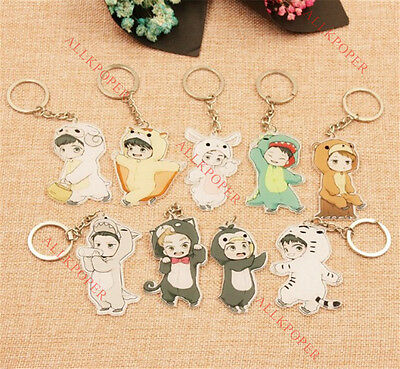 KPOP EXO Cute Keychain Cartoon Chanyeol Character Acrylic Key Ring Baekhyun Suho