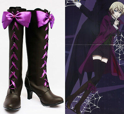 Black Butler Alois Trancy Cosplay Schuhe Kostüm Shoes Stiefel Boots Costume Neu