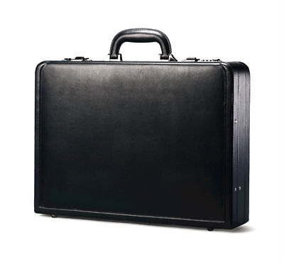 Samsonite Leather Business Cases Bonded Leather Attache Case in Black