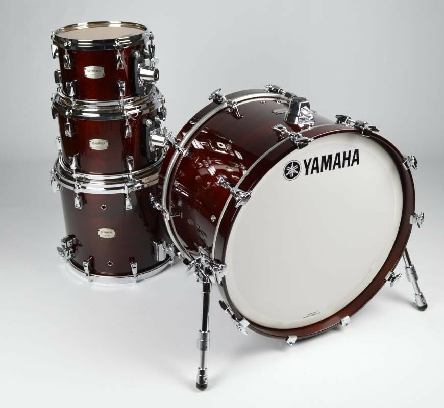 Yamaha Absolute Maple Hybrid Maple Classic Walnut 4-piece drums