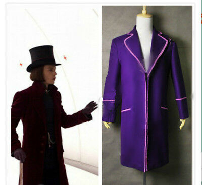 Charlie And Chocolate Factory Costume (Charlie And The Chocolate Factory Cosplay Willy Wonka Purple Costume In)