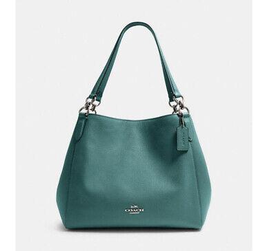 🌺🌹NWT Coach F80268 Hallie Shoulder Bag Leather tote handbag satchel