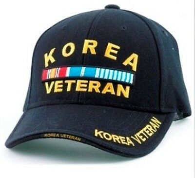 Korea Veteran RIBBONS Ball Cap Army Marine Corps Navy USAF Korean War Vet Hat R