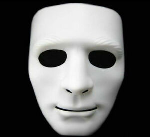 Men's Full Face White Mask Cosplay Party Costume Theater Props Toys Halloween UK