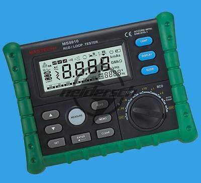 Circuit Breaker Rcd Loop Tester Meter Mastech Ms5910