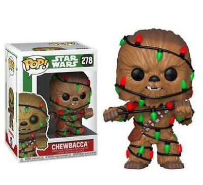 Funko POP! Star Wars Chewbacca+Christmas Lights Vinyl Bobble-Head #278+Protector