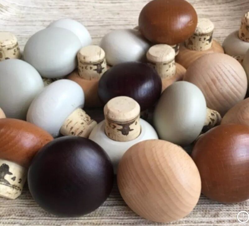 25 Don Julio Large Mushroom Shaped Wood Tops/Corks Paintable! White/Brown Crafts