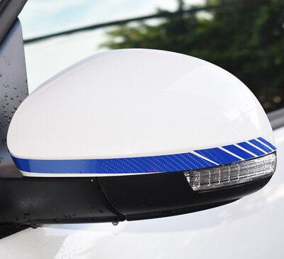5D Blue Stickers Car Accessories Rearview Mirror Carbon Fiber Vinyl Stripe Decal