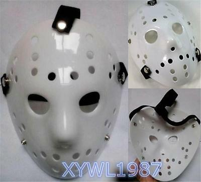 Jason Voorhees Friday the 13th Horror Movie Hockey Mask Scary Halloween Mask New - Hockey Mask Scary