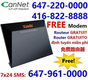 Free VDSL modem + FREE shipping, 50M unlimited internet for $40/month,$30 install. Call 416-999-4449 or 613-812-8888