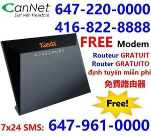 Free VDSL modem rental + FREE shipping, 50M unlimited internet for $40/month,$30 install. Call 416-999-4449 613-207-8888