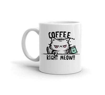 Coffee Right Meow Grumpy Cat Need Coffee Mug Funny Cute Anim