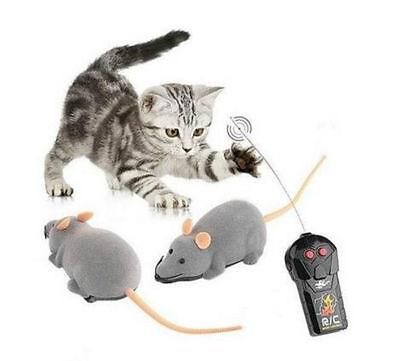 RC Elektronische Ratte Maus Spielzeug mit Fernbedienung für Katzen Hunde 6435