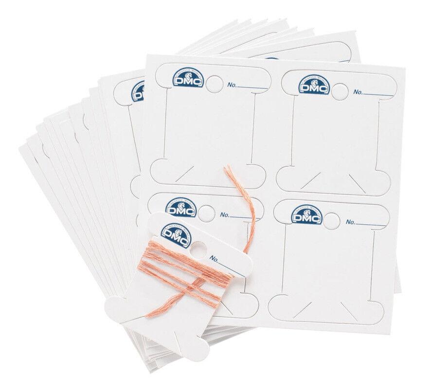PACKS OF 56x DMC CARD BOBBINS (6101), Choose 1