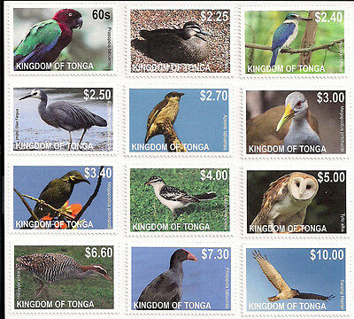 Tonga 2012 Birds Definitive Issue Set of Singles