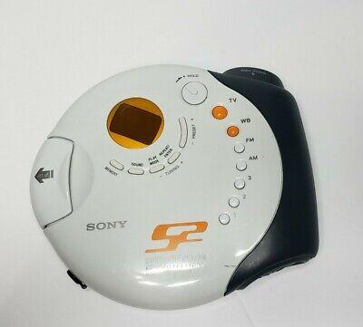 Sony D-FS601 S2 Sports Portable Walkman CD Player Weather TV/AM/FM Radio