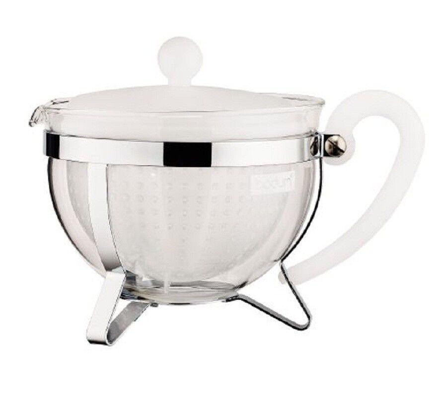 Bodum Chambord Teekanne mit großen Filter, 1 Liter, Teebereiter, Tee Kanne, Neu