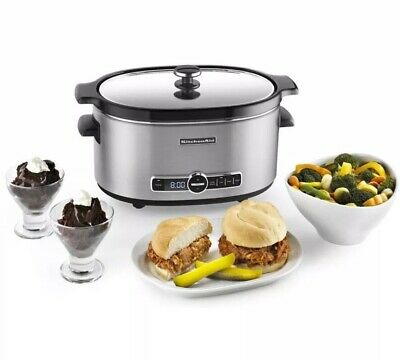 KitchenAid KSC6223SS 6-Qt. Slow Cooker with Standard Lid - Stainless Steel New
