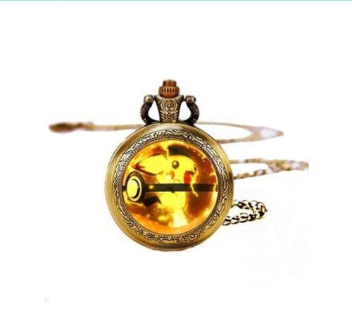 Pokeball Pichu Pocket Watches Necklace,Gift Necklace,Pokemon