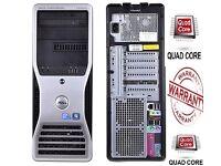 ULTRA FAST Quad Core 2.4Ghz 8GB 128SSD Desktop Gaming PC Computer Intel DVDRW