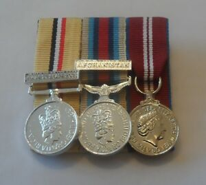 Court-Mounted-Miniature-Medals-Iraq-Telic-Clasp-Afghanistan-Diamond-Jubilee