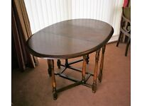 Gate-leg Table and Four Dining Chairs