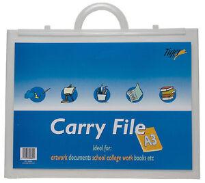 Clear Art Portfolio School/Student Art Portfolio Folder Plastic Carry Case A3