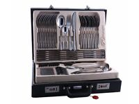72 Piece Stainless Steel Cutlery Set with Case Boxed solid Tableware canteen