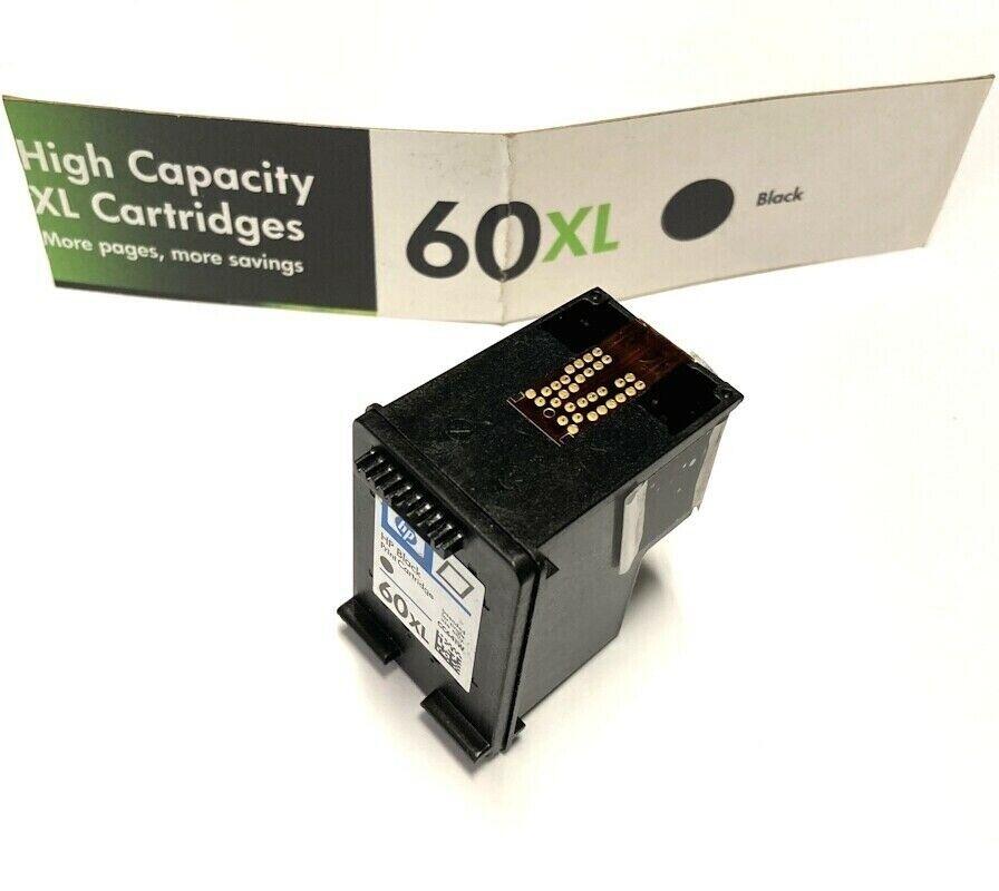 Genuine HP Invent Ink Cartridge 60XL CC641W Black High Capac