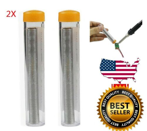 2x 60/40 Quality Tin Lead Rosin Core Flux Soldering Solder Wire Diameter 24g