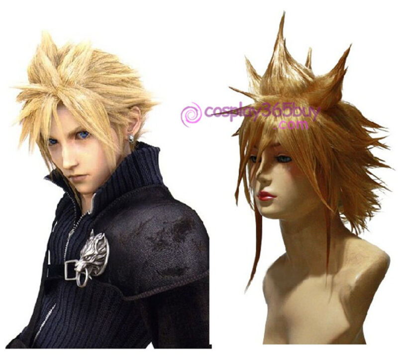 Final Fantasy 7 Cloud Strife Cosplay Wig short wig