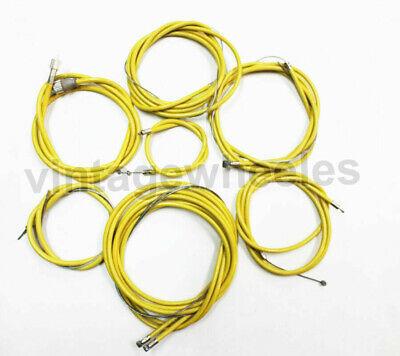 Lambretta Sx-Tv-Li Serie 3- Completo Forro Nylon Fricción Sin Cable Set Amarillo