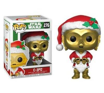 Funko POP! Star Wars C-3P0 Santa Christmas Vinyl Bobble-Head #276 with Protector