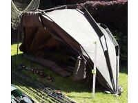 Abode Bivvy Peak Dome - Abode Fishing Bivvy w/ Groundsheet Perfect Condition