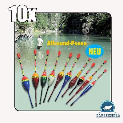 10 Stück Unterschiedliche Posen Tr. 0,6g-4,5g, Behr Angelsport Allroundposen Set