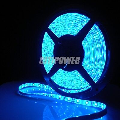 Waterproof Blue 3528 SMD 300 LED Light 5M Flexible Strip Lamp 12V 2A  Car Auto on Rummage