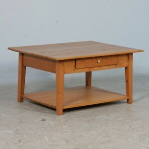 Details About Small Antique Swedish Pine Coffee Table Circa 1900