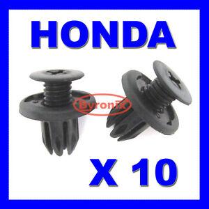 honda civic accord prelude bumper clips plastic black fasteners ebay