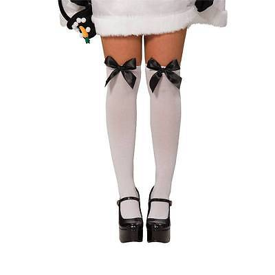 IAL Overknee Strümpfe Overknees mit Schleife Kostüm Karneval Fashing Gr 34 36 38