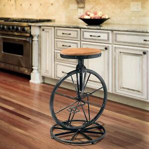 Rustic-Design-Adjustable-Height-Swivel-Bar-Stool