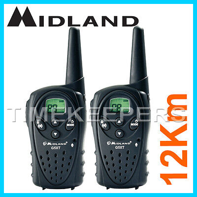 12Km Midland G5 XT Long Range Walkie Talkie 2 Two Way PMR 446 Radio Licence Free
