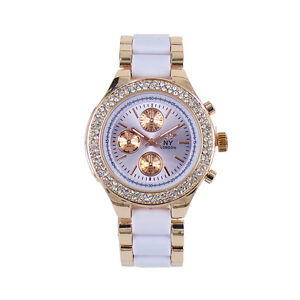 NY London Modern Girls Ladies Women Fashion Watch With Sparkling Crystal Bezel