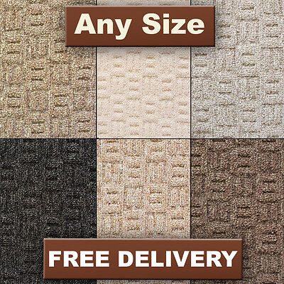 Modern New Quality 7 Colours Felt Loop Carpet  - Lounge, Bedroom - Cheap - 4m