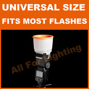 Universal Cloud Sphere Diffuser 4 Flash Light Bare Bulb