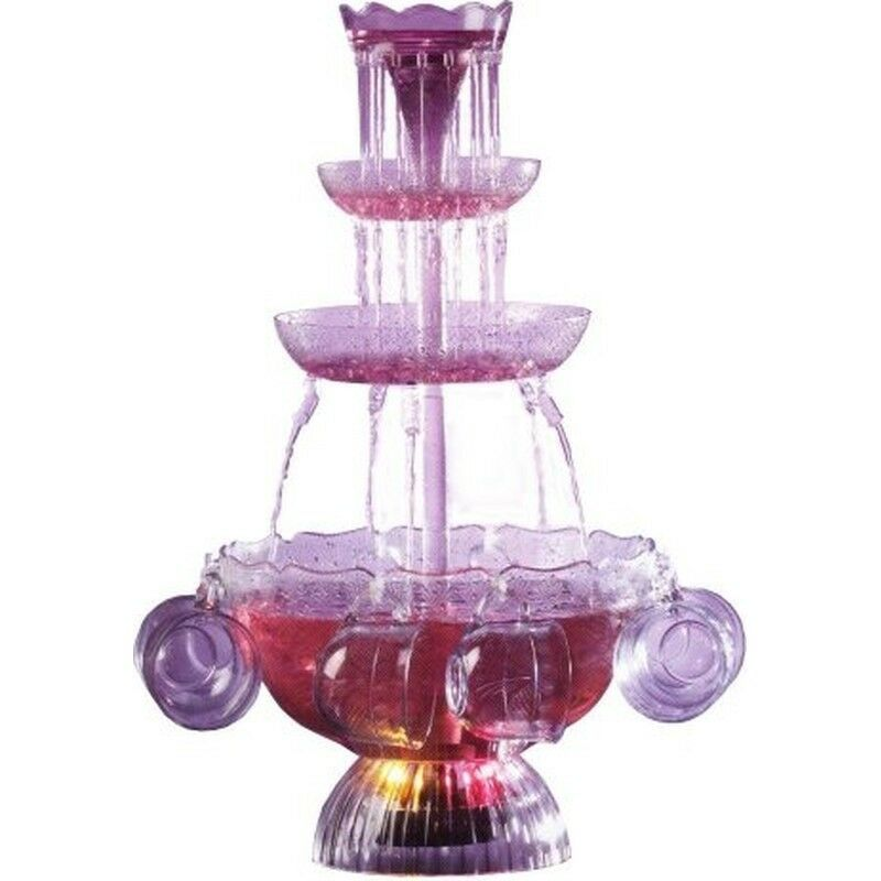 Nostalgia Electrics Lighted Drink Party Fountain, 3-tier Vintage Beverage Punch