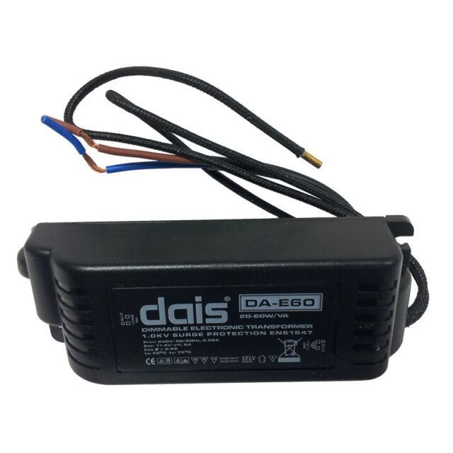 Aurora DA-E60 20-60W/VA Dimmable Electronic Transformer