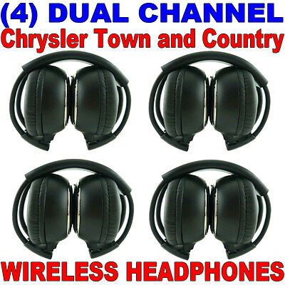 4 Chrysler Town Country Wireless Dual Channel Dvd Premium Car Headphones